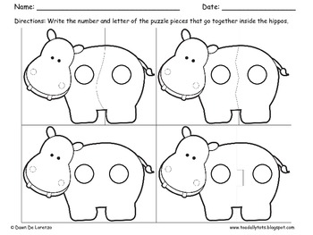 Hipp-opposites Puzzles {For Center Work or Write-the-Room}