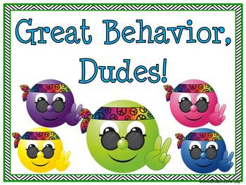 Hippie Dudes! Behavior Clip Chart