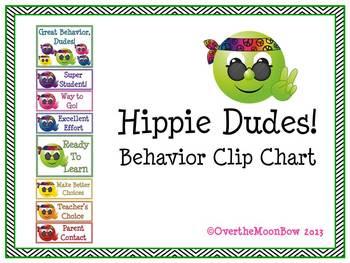 Hippie Dudes! Behavior Clip Chart