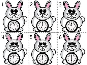 Hippity-Hop Around the Clock! (Telling Time Scoot Game)