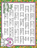 Hippity Hop Dotted Letter with Line Full Sheet Alphabet Pr