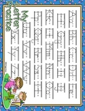 It's Springtime Dotted Letter with Line Alphabet Practice