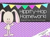 Hippity-Hop Homework {Spring & Easter Themed Homework Packet}