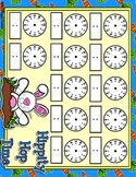 Hippity Hop Time Full Sheet Telling Time Blank Clocks Mat