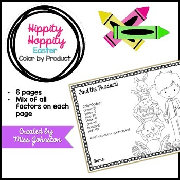 Hippity Hoppity Color by Product {Easter}