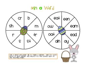 Hippity Hoppity Easter Literacy Games