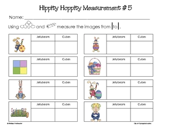 Hippity Hoppity Measurement Activity