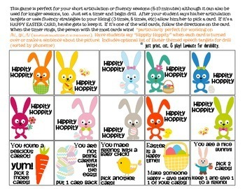 Hippity Hoppity Quick Drill {for articulation or fluency therapy & RTi}