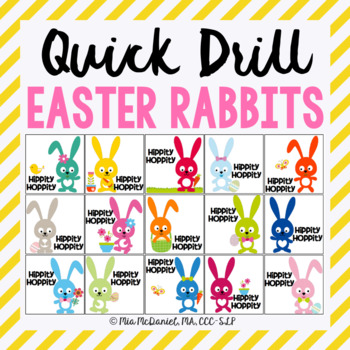 Quick Drill Easter Rabbits {for speech therapy or any skill drill}