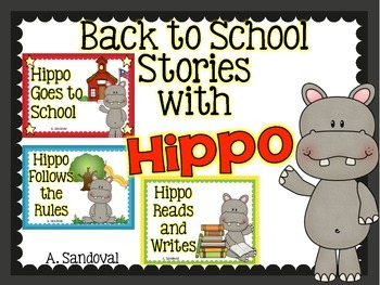 Hippo Back to School Stories-BUNDLE in ENGLISH