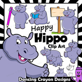 Hippo Clip Art with Signs
