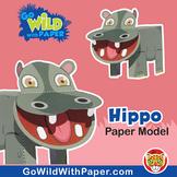 Hippo Craft Activity | 3D Paper Model