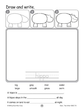 Hippo (Draw...Then Write)