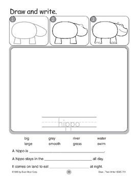Hippo (Draw...Then Write)