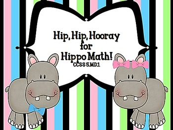 Hip Hip Hooray for Hippo Math!  Task Cards for CCSS 5.MD.1