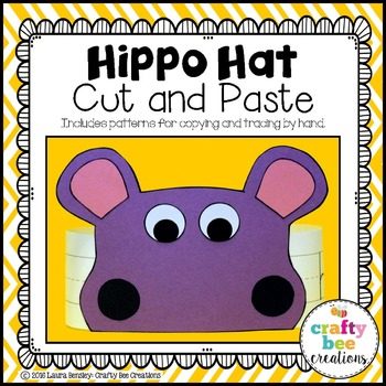 Hippo Hat Cut and Paste