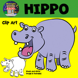 Hippo Hippopotamus Zoo Animals Clip Art