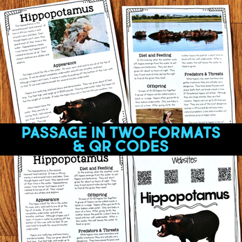 Hippo: Informational Article, QR Code Research & Fact Sort