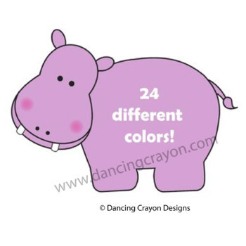 Hippo Puzzle Cards and Hippo Clip Art