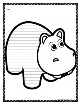 Hippo Writing Paper