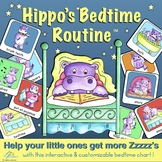 Hippo's Bedtime Routine Chart