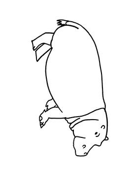 Hippopotamus Coloring Page