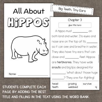 Hippopotamus Hippos Interactive Reading Comprehension