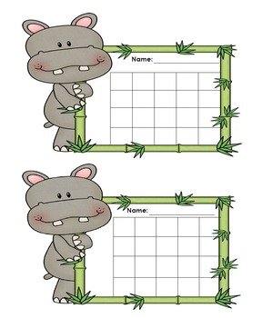Incentive Charts with a Hippopotamus Theme