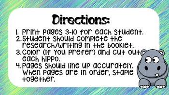 Hippopotamus Research Booklet
