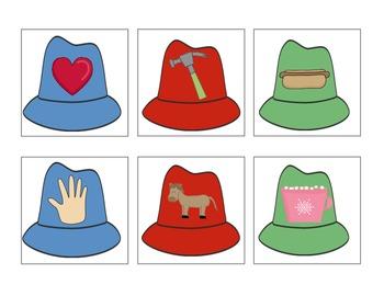 Hippo's Hats - Letter H Beginning Sound Sort