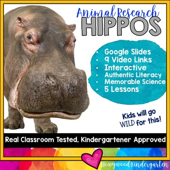 Hippos ...  Zoo Animal Research Mixed w/ Authentic Literacy Practice!