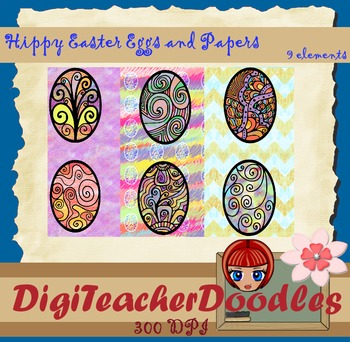 Hippy Ester eggs and papers