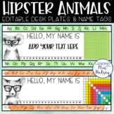 Hipster Animal Desk Name Tags