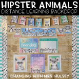 Hipster Animals Distance Learning Backdrop Décor