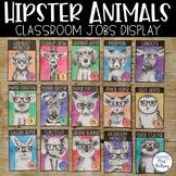 Hipster Animals: Editable Class Jobs Display