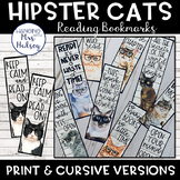 Hipster Cat Bookmarks