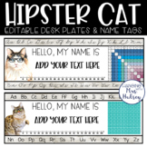 Hipster Cats Desk Name Tags