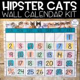 Hipster Cats: Editable Calendar