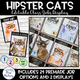 Hipster Cats: Editable Class Jobs Display