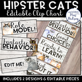 Hipster Cats: Editable Clip Chart