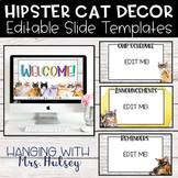 Hipster Cats Google Slides Templates Distance Learning