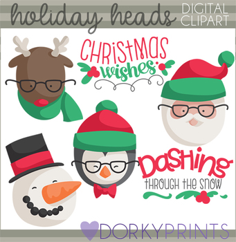 Hipster Christmas Clipart