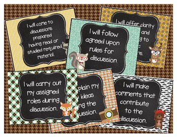 Hipster Common Core Posters (Grades 4 & 5) Comprehension and Collaboration