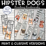 Hipster Dog Bookmarks