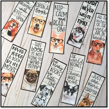 Hipster Dog Bookmarks
