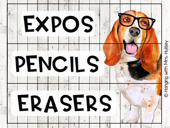 Hipster Dogs: Editable 3 Drawer Sterilite Labels