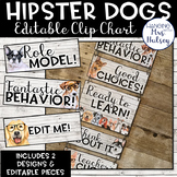 Hipster Dogs: Editable Clip Chart