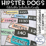 Hipster Dogs: Editable Schedule Cards