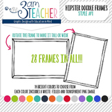 Hipster Doodle Frames: Style #1