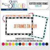 Hipster Doodle Frames: Style #2 Clipart Set